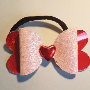 Other - Heart shaped hair bow